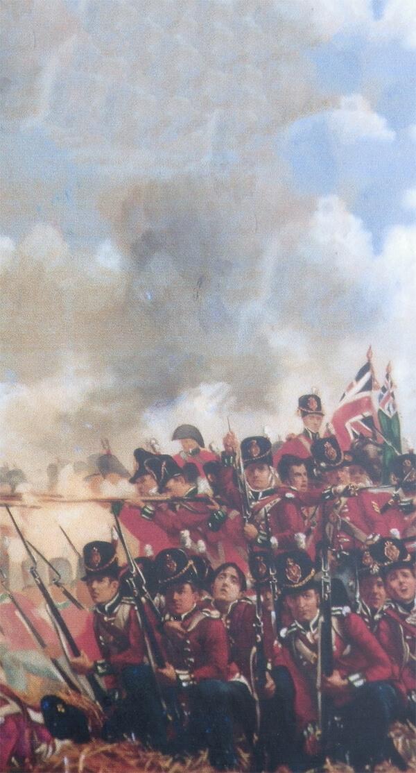 Scene from The Battle of Waterloo