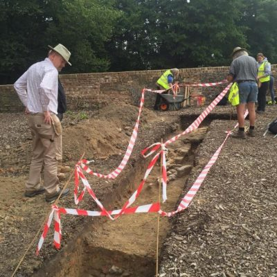 Phil's team working on trench 45