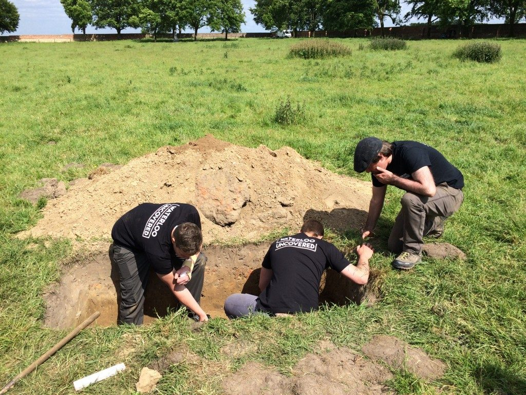 TonyPollard(Archaeological Director) supervising digging.