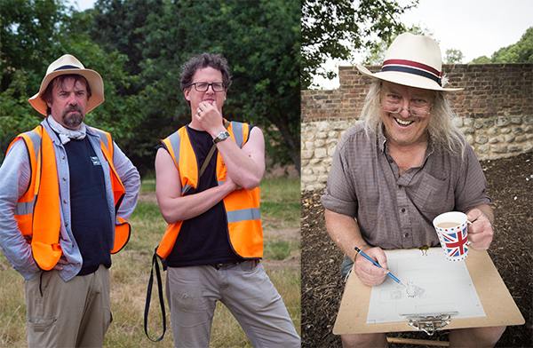 Professor Tony Pollard, Doctor Stuart Eve and Phil Harding, three of our Lockdown Lecturers