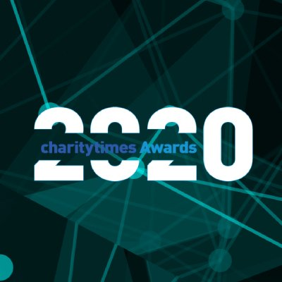 The 2020 charity times awards logo.