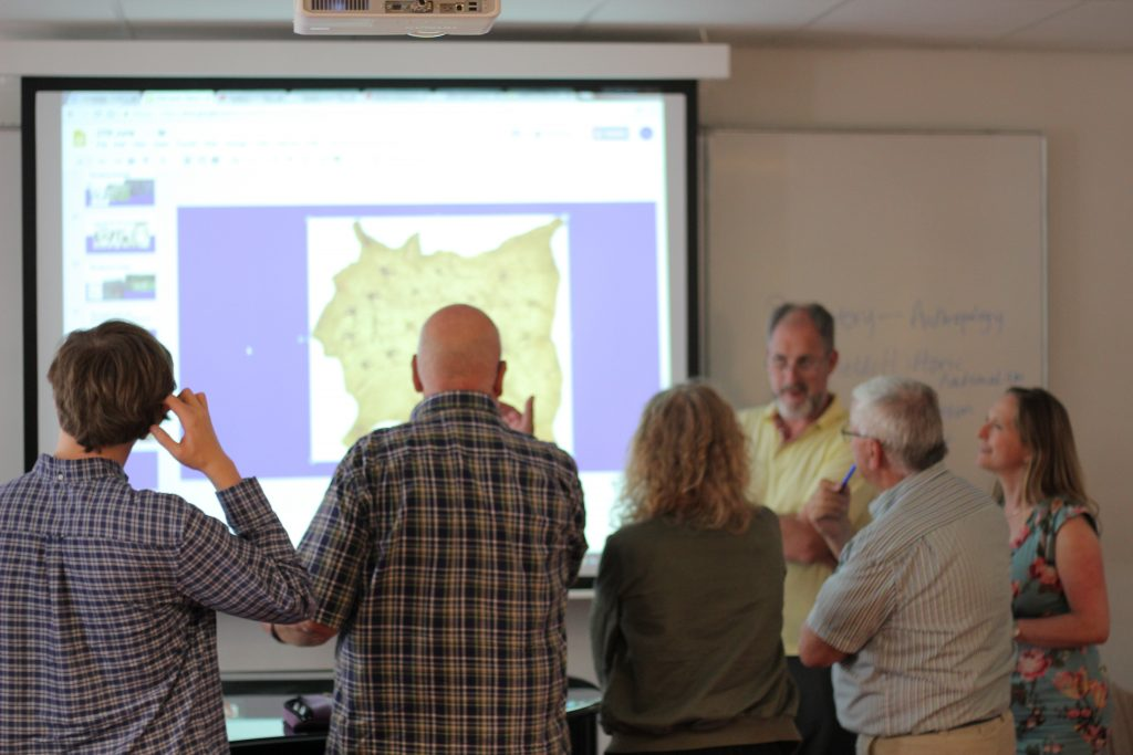 class viewing a map