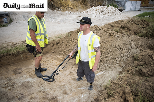 War veterans finding peace on the battlefield at Waterloo: Heroes of Afghanistan and Iraq unearth cannonballs on 'therapeutic' dig