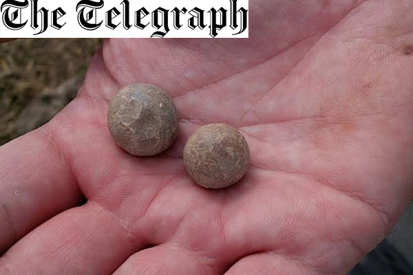 Musket balls discovered from first shots fired at Battle of Waterloo