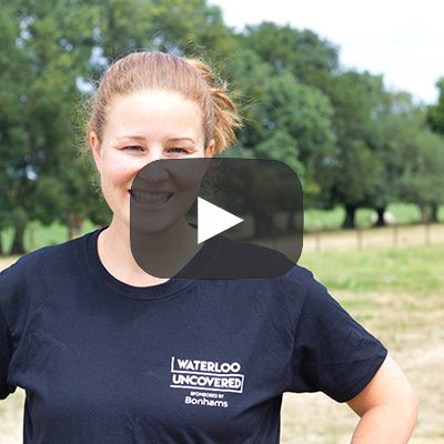 Jo Clark on site in a waterloo uncovered t-shirt