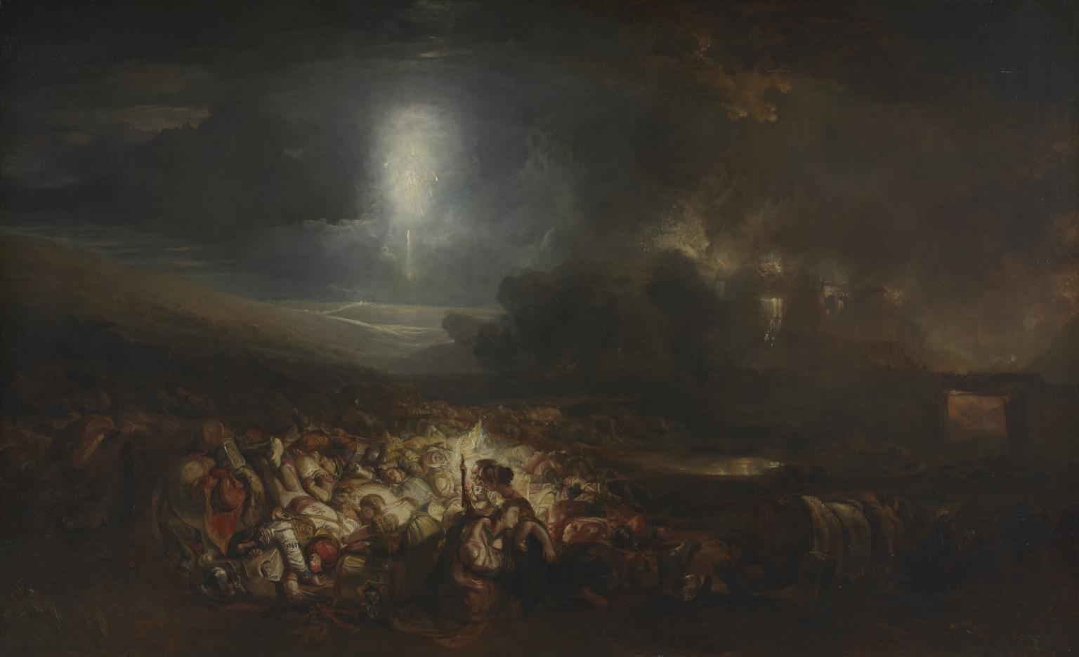 The Field of Waterloo exhibited 1818 by Joseph Mallord William Turner 1775-1851